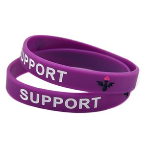 100PCS Debossed League Of Legend Silicone Rubber Bracelet ADC JUNGLE MIDD SUPPORT TOP for Promotion Gift