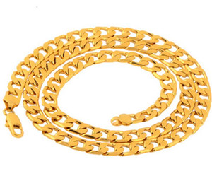 18K Real Gold Plated Necklace Men Jewelry Wholesale New Trendy Chunky Snake Chain Necklace Wholesales accessories