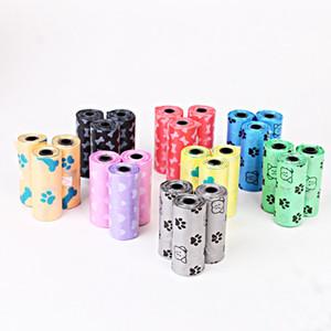 Suprimentos para animais de estimação sacos cocô sacos biodegradável 150 rolos de cor múltipla para desperdício Scoop Lashser Frete Grátis DHL