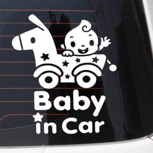 1pc Automobiles Exterior Accessories Car Stickers 23cm*20cm Cartoon Baby In Car Post Glass Warning Auto Stickers Car Decals Pastes