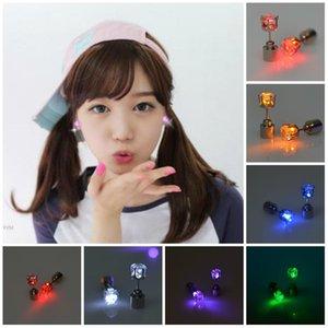 Channel Earrings Earrings Men Women Party Punk Rock LED Bling Light Wholesale 1pc Ear Studs Jewelry Up Stud Gift Rjpvt