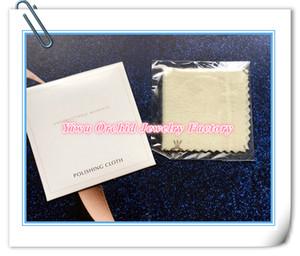Toptan 50 Adet Temizleme Parlatma Bezi 10 * 10 CM için Charms Bilezik Bileklik Kolye Pandora Gümüş Takı Kutusu Ambalaj Çanta için Uygun