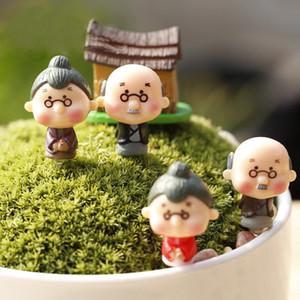 4 tasarımlar Büyükbaba ve Büyükanne peri bahçe gnome moss teraryum ev masaüstü dekor el sanatları bonsai bebek evi minyatürleri DHL Kargo Ücretsiz