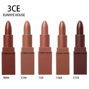 Venta CALIENTE de Alta Calidad 5 colores 3CE Eunhye House Edición Limitada lápiz labial de chocolate Mate terciopelo 120 unids / lote DHL libre