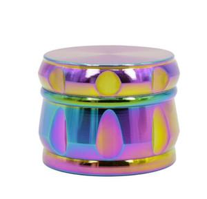 In lega di zinco quattro strati di colore arcobaleno tipo tamburo ghiaccio blu smerigliatrice smussatura nuovi fumatori