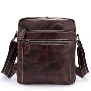 retro leather handbag 1187 Top layer cow leather one shoulder vertical laptop bag OEM available