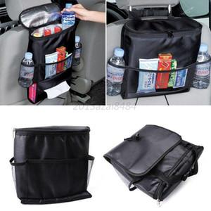 Cubiertas del coche Organizador del asiento Contenedor de almacenamiento de alimentos aislado Canasta Guardando Tidying Black Bags car styling