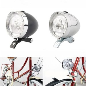 Bicicleta Retro 3 DIODO EMISSOR de Luz Frontal Farol Do Vintage Lanterna Lâmpada Dois Tipos De Modo de Flash BLL_00R