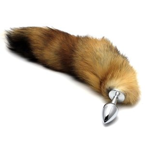 Stainless Steel Plug Toy Stopper Fox Tail Design Valentine's Day Gift Surprise (color random)