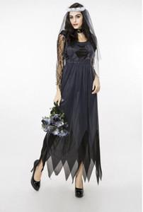 Dentelle Ghost Bride Service Femme Halloween Cosplay Vêtements Export Jeux Uniformes Sexy Dress