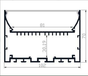 2M PCS 20M LOT LED strip Aluminium profile LED aluminium profile for Interior accent lighting indoor light furniture light