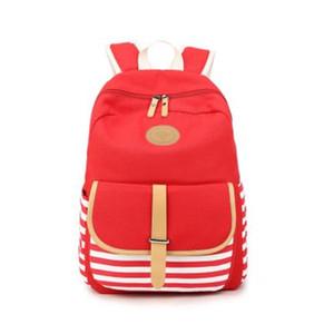 2017 Limited School Navy Stripes Backpack, la nueva mochila de lona para estudiantes. Gran espacio práctico de alta calidad.
