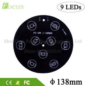 10pcs / lot 9W 27W LED base en aluminium de plaque de circuit imprimé 138mm dissipateur de chaleur de perles de lumière 1W 3W 5W pour les lumières souterraines souterraines / lampe de mur