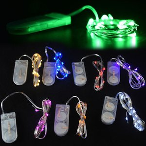 Wholesale- 1M Holiday Lighting String Fata Luce 10 LED a batteria Xmas Lights Wedding Party CN