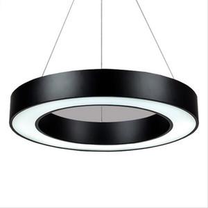 Modern Minimalism Annulus Led Pendant Lights Suspension Hanging Lighting Office Pendant Light Matte Metal Round Drop Lighting Fixtures