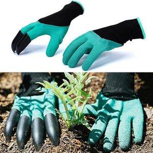 1 пара Резиновые Полиэстер Сад Рабочие перчатки с когтями Fingertips - Лучший инструмент Садоводство - лучший подарок для садоводов (Single Claw)