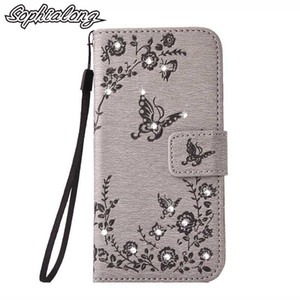 Per iPhone 6 6S XS 10 Strass Custodia per iPhone 5S XR Flip Cover Bling Shell per iPhone 7 8 Plus 10 X