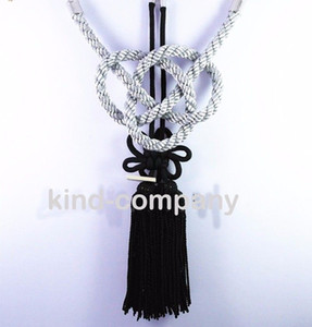 2 In 1 China black Kiku Knot Gray Kin Rope decoration power For Car auto truck Rearview Mirror Vip Charms