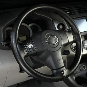 Universal Anti-slip Breathable PU Leather DIY Car Steering Wheel Cover Case With Needles and Thread