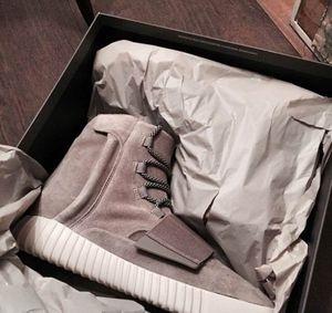 Nuovi stivali moda Uomo Donna West Boost 750 Scarpe scamosciate nere Kanye Blackout Grigio chiaro Glow In The Dark Shoes With Box