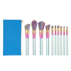 10pcs pinceaux de maquillage Set Power Foundation Mélange Ombre à paupières Contour Concealer Blush Visage Maquillage Brush Beauty Kit Kwasten