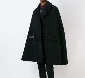 Großhandels-fertigen Art und Weise Männer Kap Mantel lose lange wollene Mantel woolen Tuch dicken Mantel Herbst Winter Kleidung