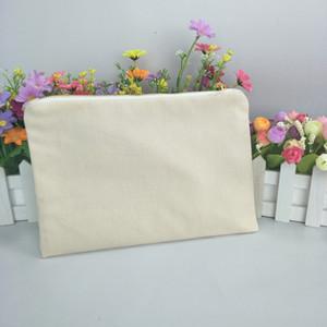 القطن الطبيعي كيس قماش كريم ماكياج مع الذهب البريدي 7 * 10in حقيبة الرمز البريدي سفينة مجانا عن طريق DHL مباشرة من المصنع قماش سميك حقيبة مستحضرات التجميل