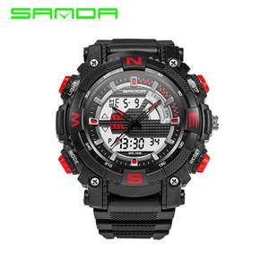 2017 nova moda sanda marca king estilo digital ao ar livre relógio esportivo à prova d 'água anti-choque de luxo led digital relógio militar