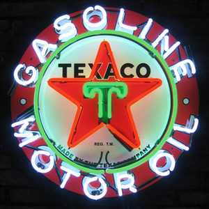 New Glass Neon Sign Beer Signs Neon Signs Kneipen Texaco Benzinmotoröl