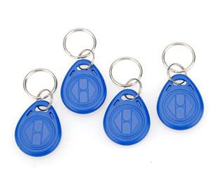 Factory price make High Quality EM4100 125khz 100pcs lot ISO11785 ABS RFID Bulk Plastic Engraved KeychainsKey Tags