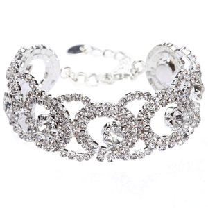 Cristaux Bridal Wrist Corsage pour Brides Demoiselles D'honneur 2017 Bling Bling Bracelets De Bridal