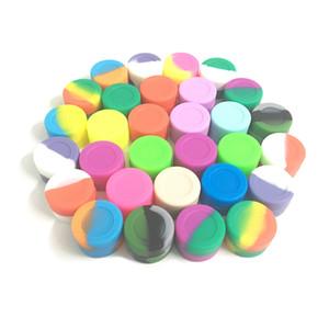Non-stick Silicone Jars Dab Wax Container 3ml Food Grade Silicon Oil Jar Screw Top 500pcs lot