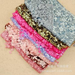 Женская мода треугольник кисточкой шарф кружева sheer металлический цветочный принт шаль кисточкой мантилья подвески шарфы шарфы обертывания капот подарки 19 цветов