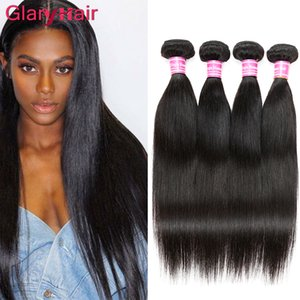 Peruvian Virgin Hair Bundle Deals Straight Human Hair Extensions Wholesale Straight Double Weft Silky Remy Hair Weave uk Dh gates Color1b