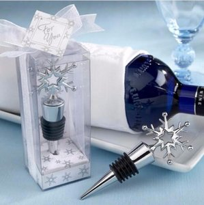 Металлическая Снежинка бутылка вина пробка свадебный свадебный душ сувениры подарки для гостей украшения + DHL Бесплатная доставка