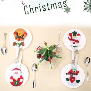 Xmas Decor Schöne Schneemann Küche Weihnachten Geschirr Halter Tasche Abendessen Besteckbeutel Party Weihnachten tischdekoration bestecksets IB487