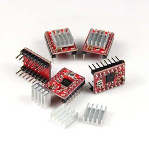 Freeshipping 50pcs / lot Stepstick Reprap 스테퍼 모터 드라이버 3D 프린터 용 방열판이 장착 된 Pololu A4988 모듈