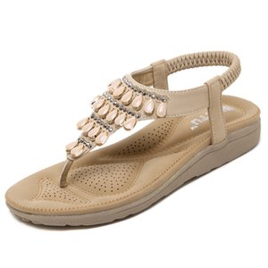 Women Flat Summer Shoes Shoes Sandals Bohemia Beach LX-032 Flops Gladiator Ladies Fashion Sandles Arrival New Platform. Flip Ktpge