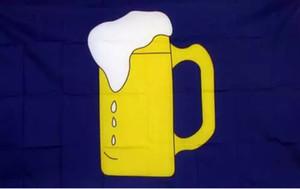 BEER MUG FLAG Открытый Флаг 3ft х 5ft Полиэстер Баннер Летучий 150 * 90см Пользовательский флаг открытый OF8