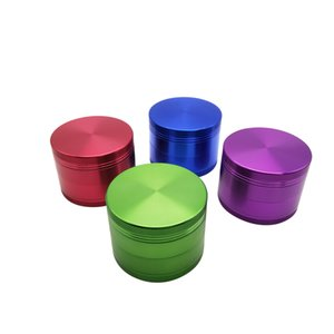 Good Quality 4 Layers 63mm Smooth and Durable Aluminum Alloy Metal Herbal Tobacco Cigarette Grinder Smoke Cigar Crusher