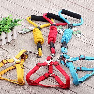 Nylon Pet Dog Filhote de Cachorro Collar Cat Macio Ajustável harness colete fita Confortável Chumbo Trela Cabo Pequeno Médio Grande Multi Cores