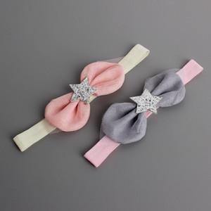 3 шт Cute Baby Cotton Bling Star марлевые Bowknot Rabbit Ears головная повязка Эластичная повязка малышей Детский головной убор Красивая Хуэйлинь BH12