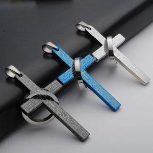 Nouveau Jésus Croix Pendentif En Acier Inoxydable Jesus Lettre Croix Déclaration Charme Croix Collier Bijoux sans chaîne
