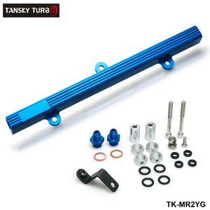 TANSKY-yeni ray performans Alüminyum enjeksiyon Enjektör yakıt ray Kiti Toyota MR2 3s-GTE Mavi TK-MR2YG