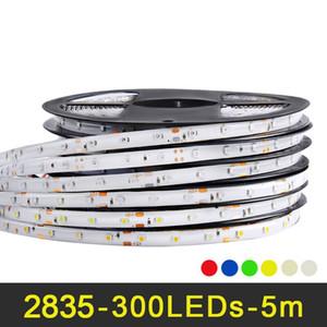Tira CONDUZIDA 2835 12 V 5 m 300 LEDs RGB Tiras de Luz LED Flexível à prova d 'água Quente Branco Vermelho Azul Amarelo Verde