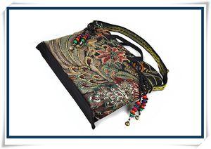 2016 nuevo bolso de Yunnan estilo popular bordado bolsa de lona Crossbody Bolsa de doble propósito portátil