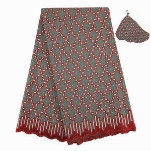 Cordón de voile suizo africano de alta calidad, 876 Envío gratis (5 yardas / paquete), 100% algodón Ropa de encaje de voile de boda africano