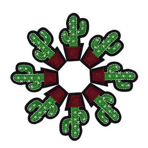 Patch da planta 100 pcs DIY Cactus Patches Emblemas Roupas de Ferro Bordado Patch Applique Ferro em Remendos Acessórios de Costura Roupas Sacos