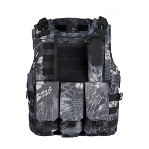 Tactical outdoor riding cycling Molle Plate Carrier Vest gilet