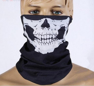 Unsex Skull Half Face Mask Scarf Bandana Bike Motorcycle Scarves Scarf Neck Face Mask Cycling sport Ski Biker Headband party cosplay Masks